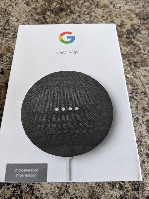 Google Nest Mini Black - 2nd generation New and Sealed