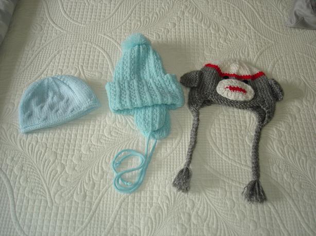 VGUC - baby boy winter hats