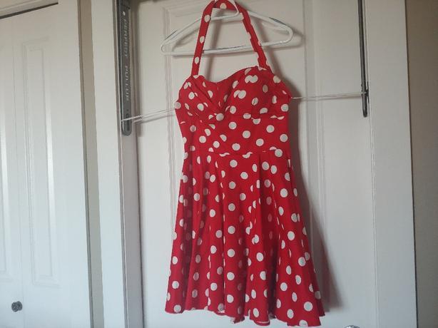 polka dot party dress M
