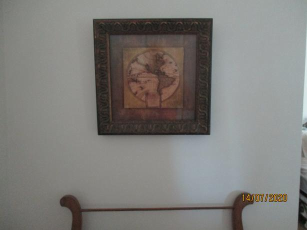 N/A ANTIQUE STYLE MAP-FRAMED