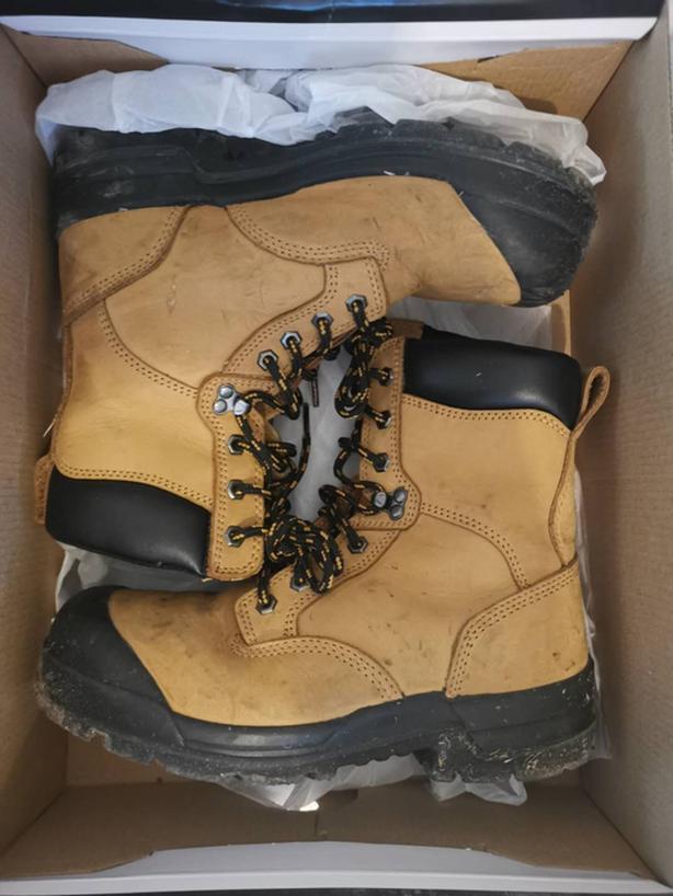 construction basic gears (hardhead boots, safety vet and helmet)