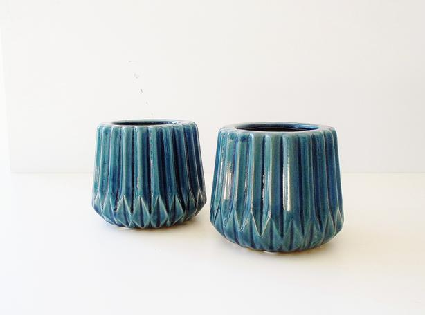 Glazed Ceramic Plant Planter Pot (Set of 2)