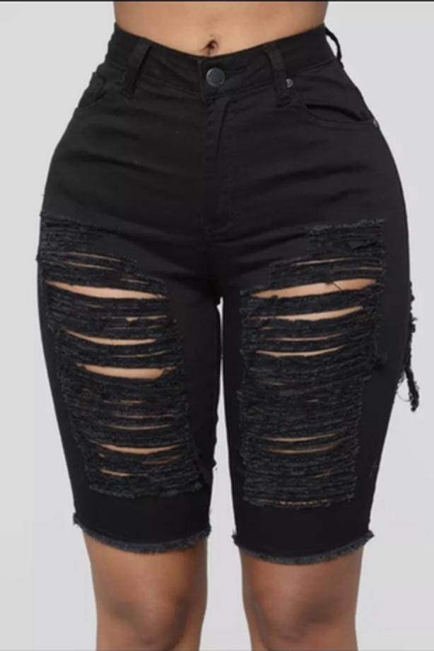 Women's Ripped Short Jeans