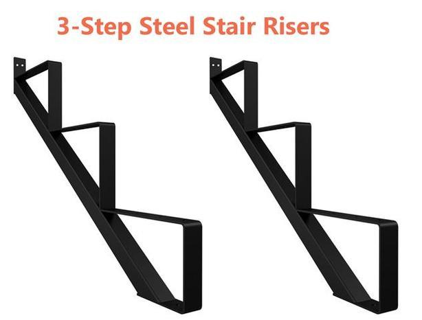 3-Step Steel Stair Risers