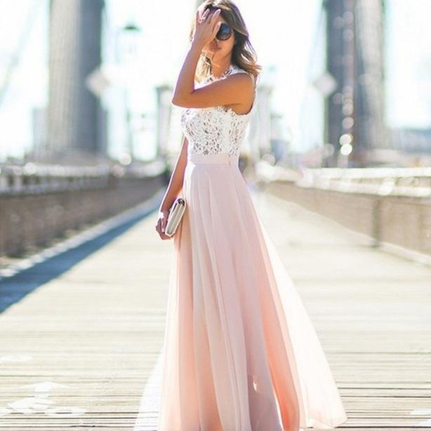 Pink and white Bridesmaid