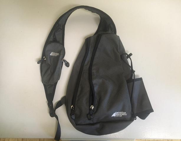 MEC Coop Sling Pack and Nike Water Bottle Belt - 2 For Sale