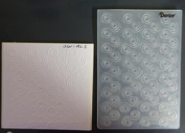Darice, Cuttlebug, and Sizzix embossing folders
