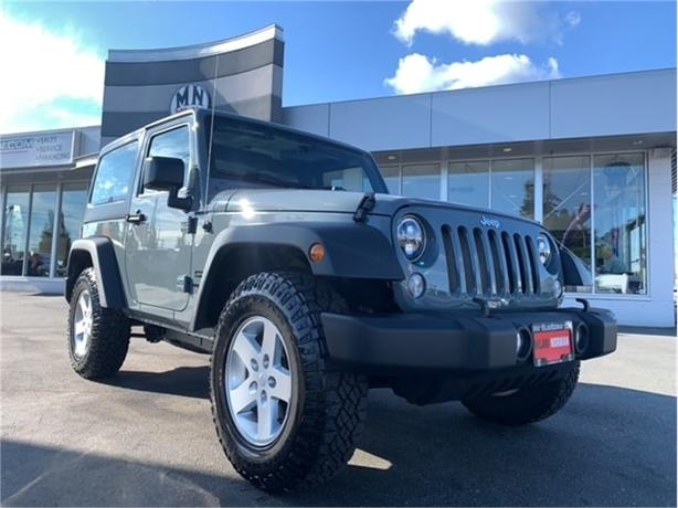 2015 Jeep Wrangler Sport 4WD 6SPD MANUAL HARD-TOP ONLY 34KM