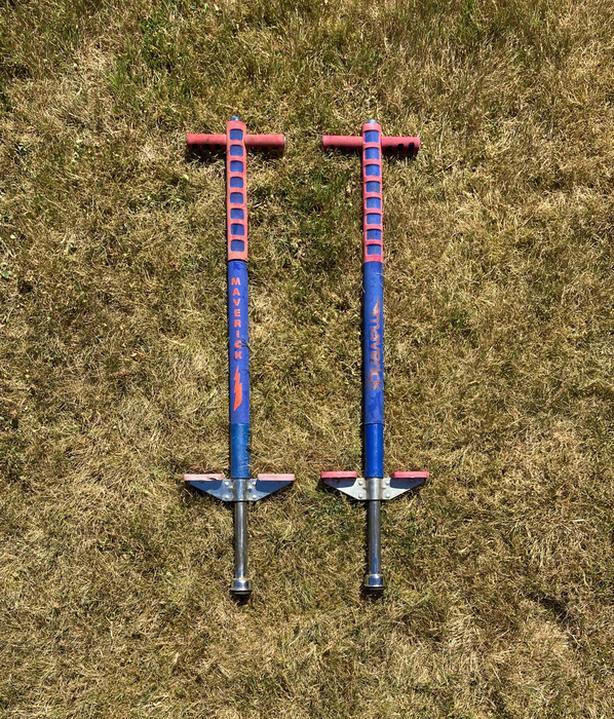 2 Pogo sticks