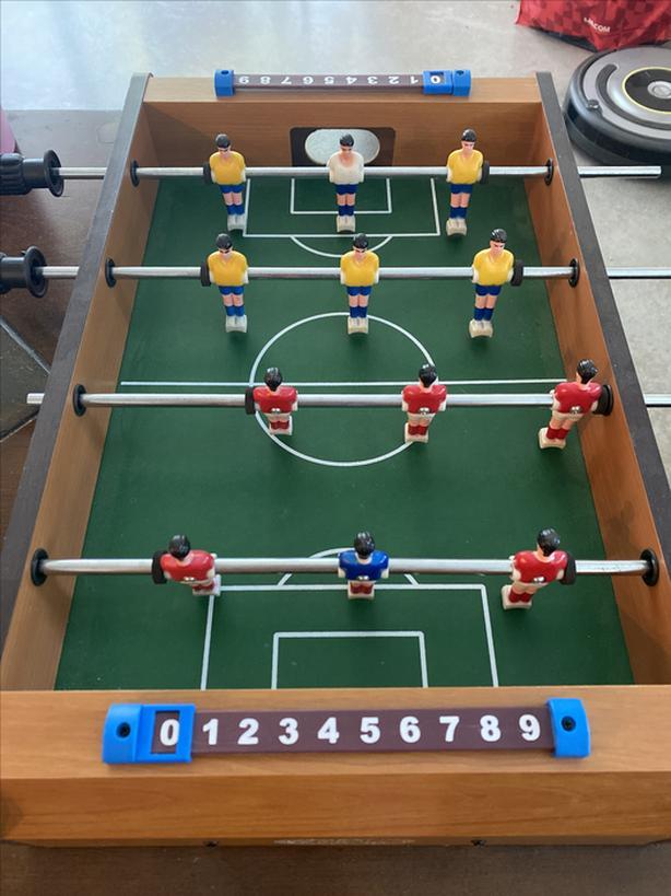 Mini soccer table game