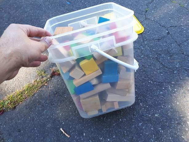 Kids building blocks, wooden, free
