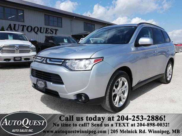 2014 Mitsubishi Outlander ES, REMOTE START, HTD LEATHER SEATS!