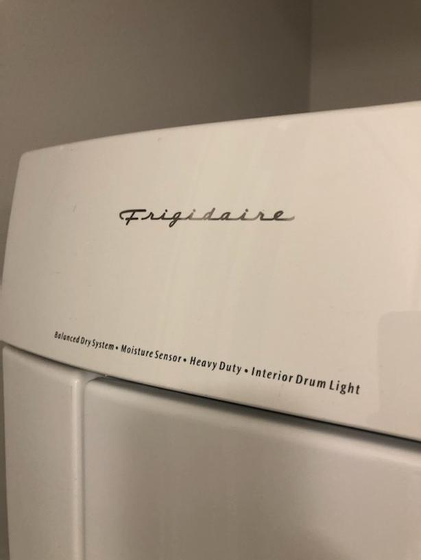 stackable washer & dryers brand Frigidaire
