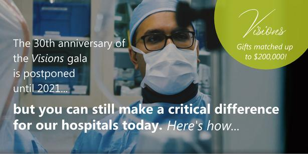 Double Your Donation & Support Our Hospitals