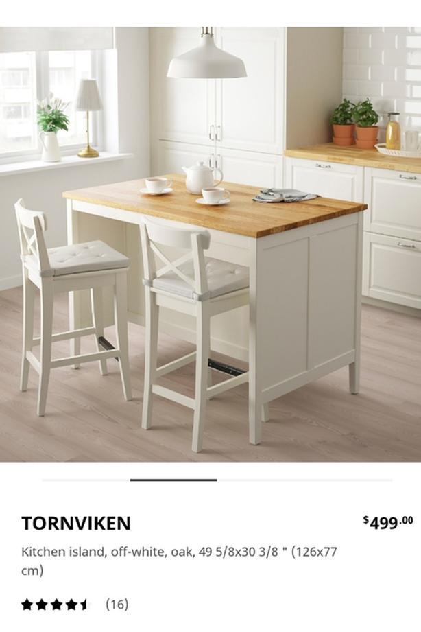 IKEA Kitchen Island and Stools