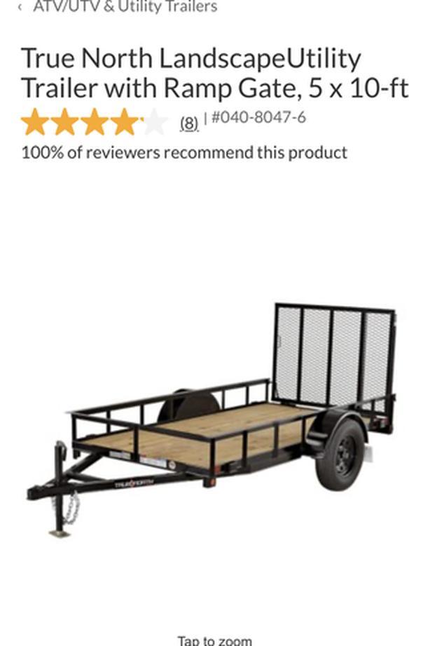 Brand new 5x10 utility trailer
