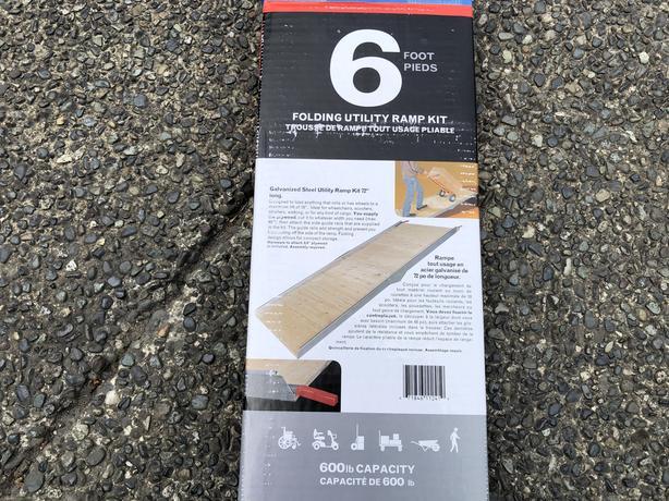 Folding ramp 6'