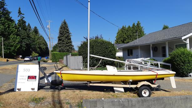 1980 14' Laser 1 Sailboat, with trailer