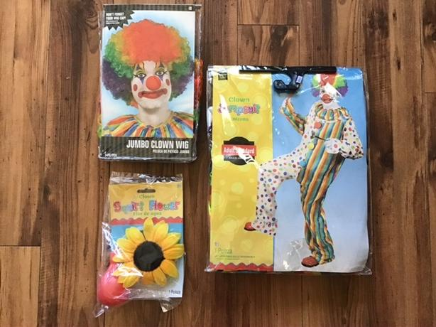 NIP - Adult Clown costume with Accessories