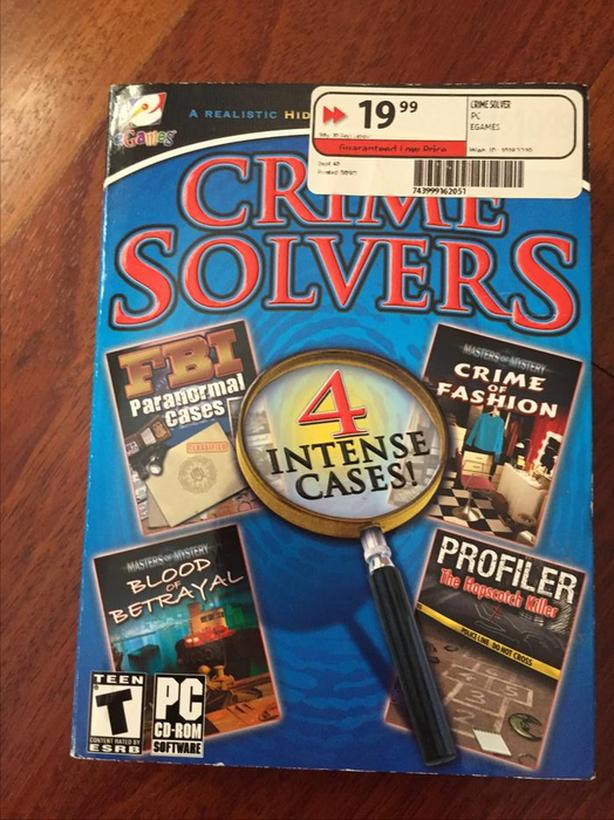 Crime Solvers PC games (4 intensive cases)