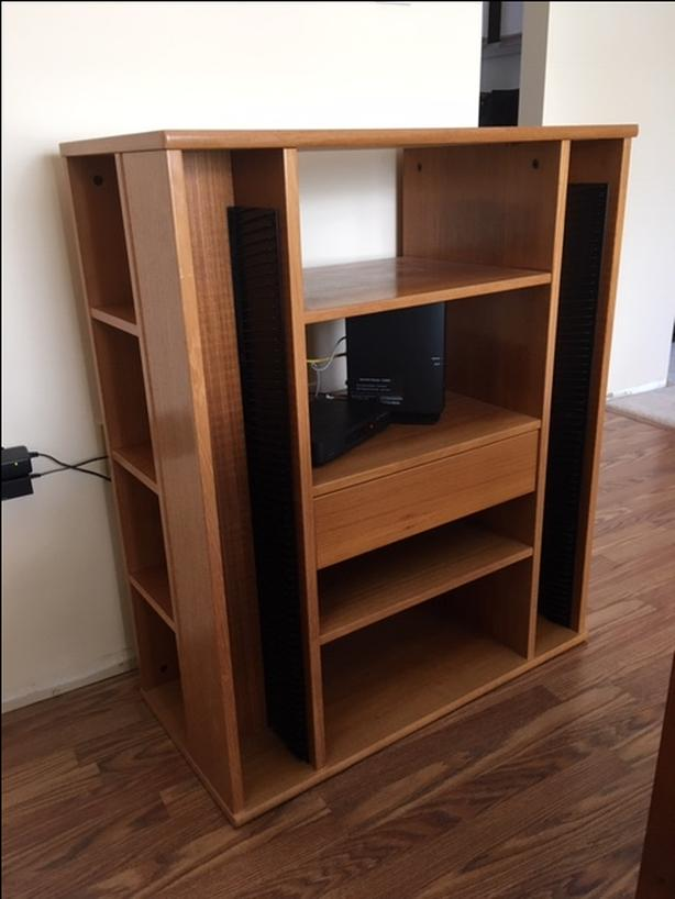 Teak Media Bookshelf