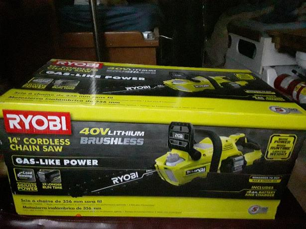 ryobi electric chainsaw brushless- unopened