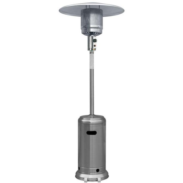 Stainless steel outdoor LP patio heater