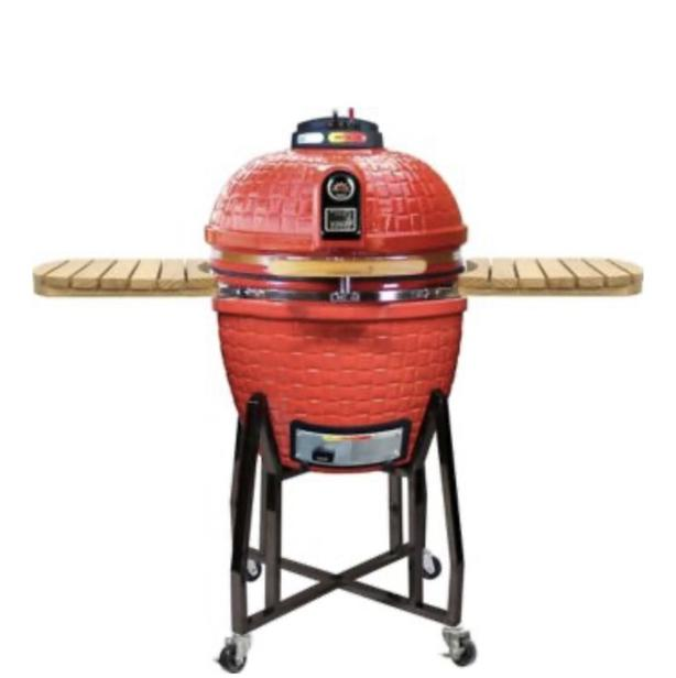 Brand new Vision Grill Kamado in red rattan