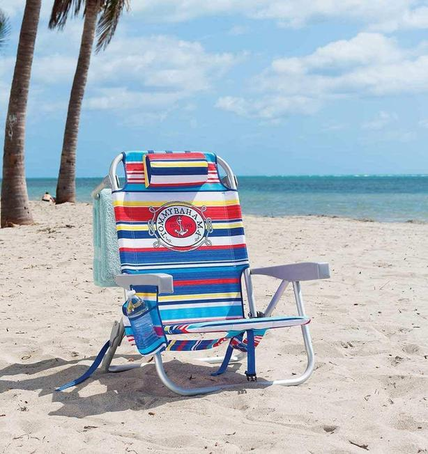Tommy Bahama 5 position backpack chair with insulated Cooler Pouch