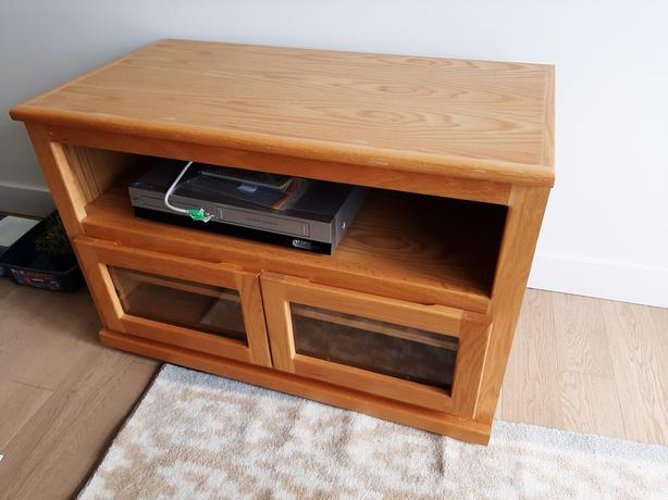 compact solid wood entertainment cabinet/stand