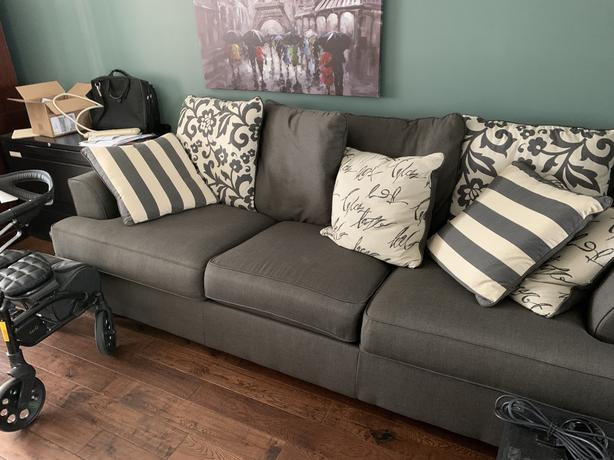 Ashley Furniture Levon Charcoal Sofa (pillows included)