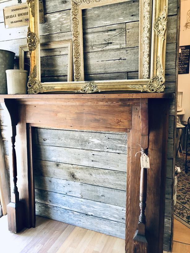 Antique Fir Fireplace Mantle
