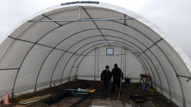 Winkler structures 24 x 36 ft fabric building