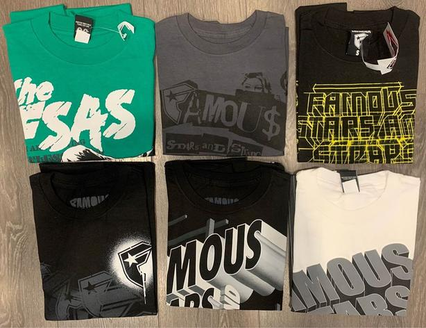 19 Brand New Men's Small T-Shirts - Famous Stars & Straps
