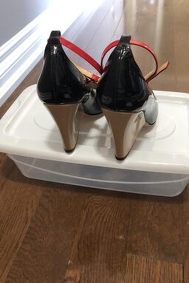Kate Spade Tri Tone Wedge Shoe