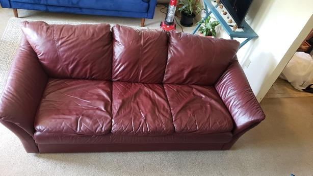 FREE: Leather Couch/Sofa