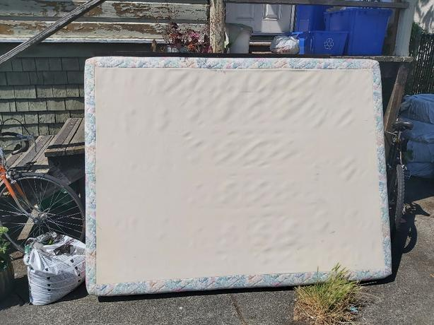 FREE: queen boxspring & frame