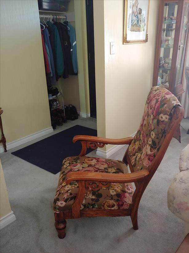 FREE:  Golden Oak Chair From People's Trading Post