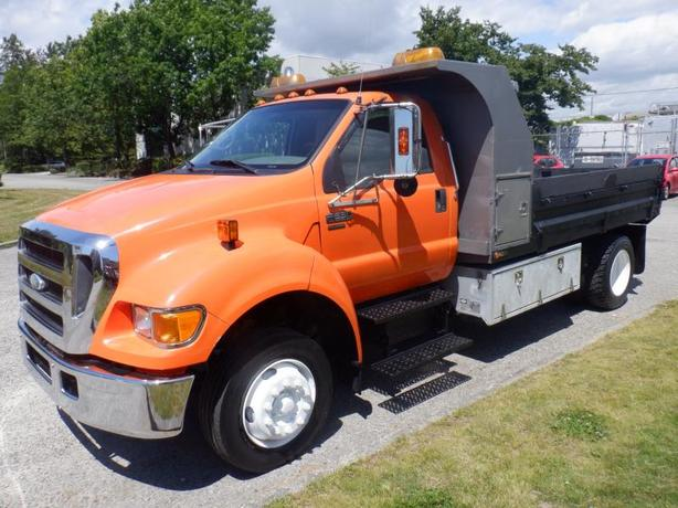2007 Ford F-650 Dump Truck 2WD Dually Diesel With Crane Air Brakes