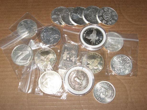 1 oz Silver Coins .999 pure $41 each silver rounds