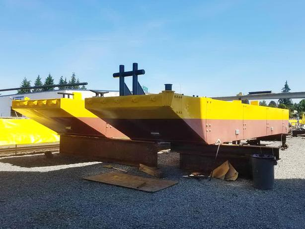 4 Steel Sectional Barges For Sale