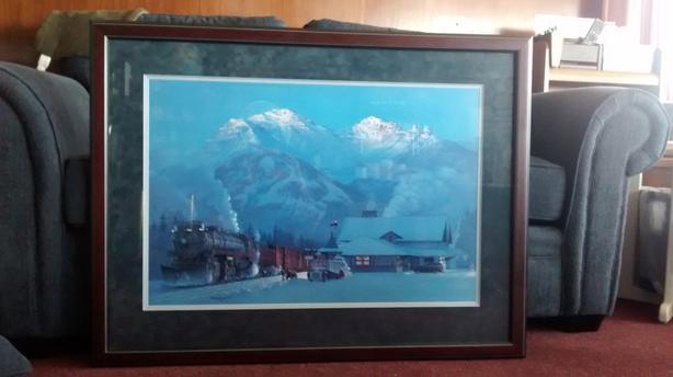 "Max Jacquiard ""Banff Station"" train limited edition print"