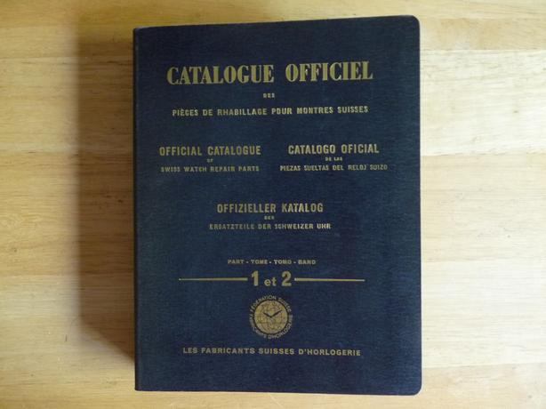 1955 Official Catalogue of Swiss watch repair parts