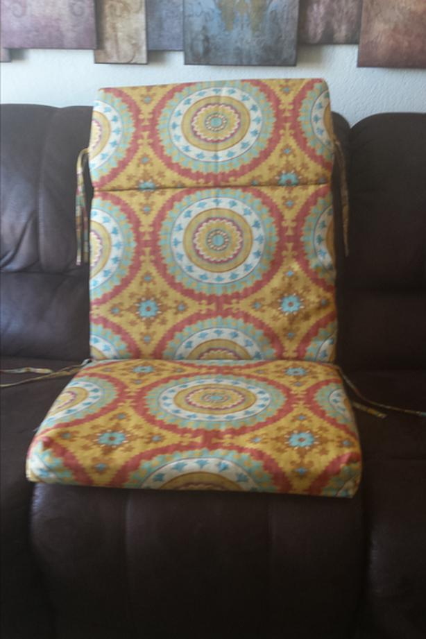 High Back Lounge Chair Chaise Pad Cushion - excellent condition REDUCED