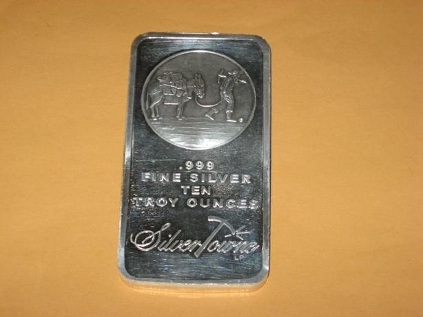 10 Ounce  .999 Pure Silver Bar $435 each
