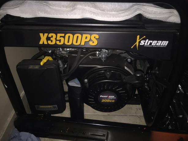 new never used 3500exstream xps gas generator