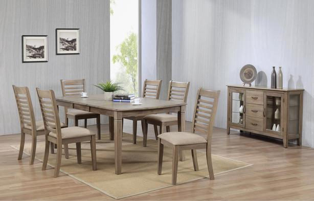 New Solid Hardwood Extending Table & 6 Chairs