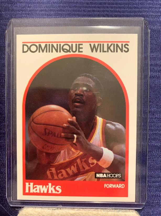 Dominique Wilkins Atlanta Hawks 1989-90 NBA Hoops Basketball Card #130