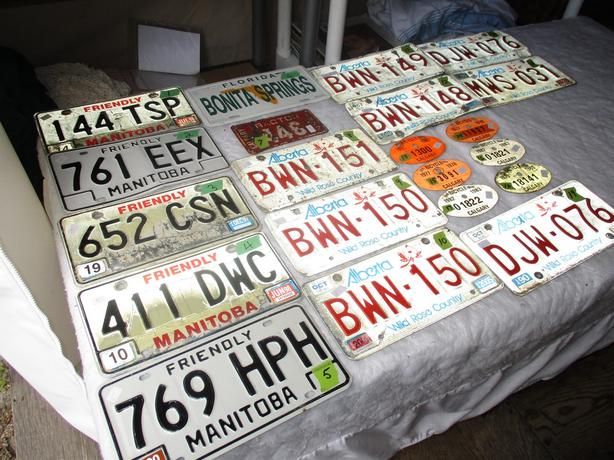 UNIQUE LICENCE PLATES FROM ESTATE