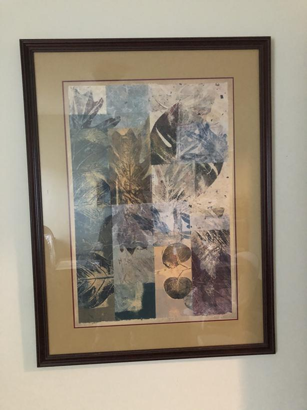 Renwil leaf style framed picture